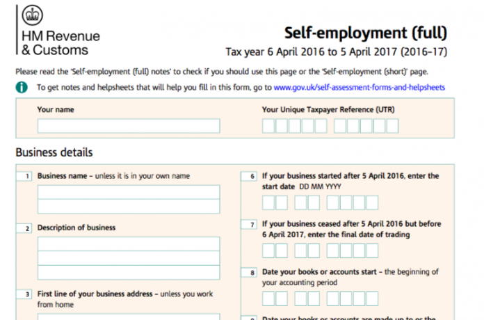 What Is A Self Assessment Tax Return Form Definition Sample