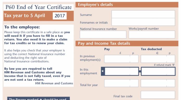 Copy Of P60 >> How To Get A Lost P60 Or A Copy From An Employer