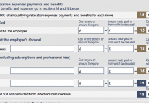 P11d Form Section J: Qualifying Relocation Expense Payments