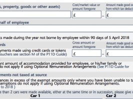 P11d Form: Section A Assets Transferred