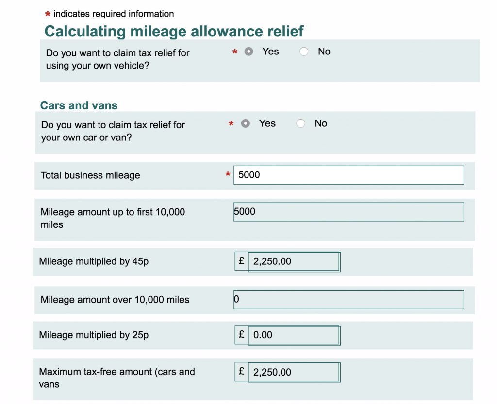 How To Claim For A Work Mileage Tax Rebate Go Self Employed