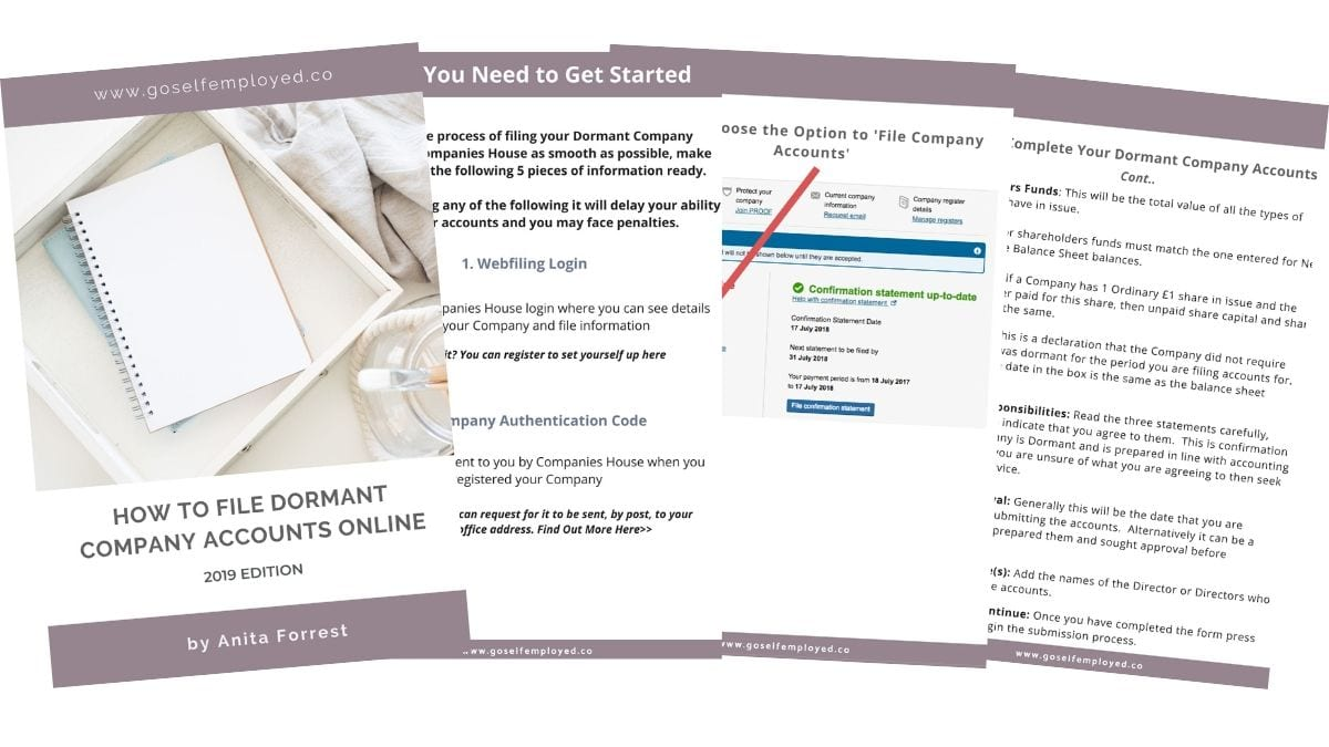how to file dormant company accounts