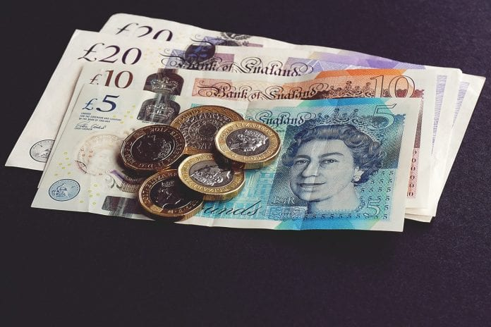 old 5 pound note