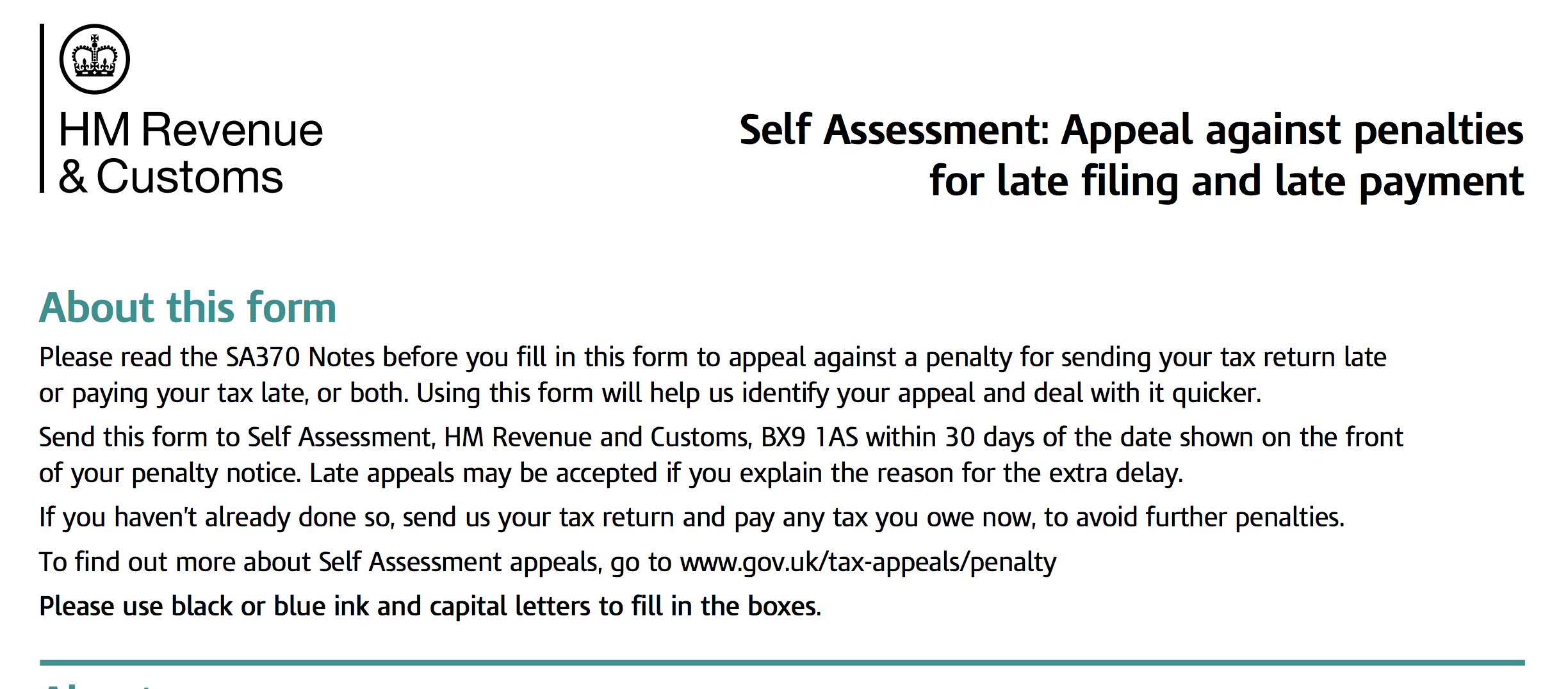 How to Appeal an HMRC Self-Assessment Penalty