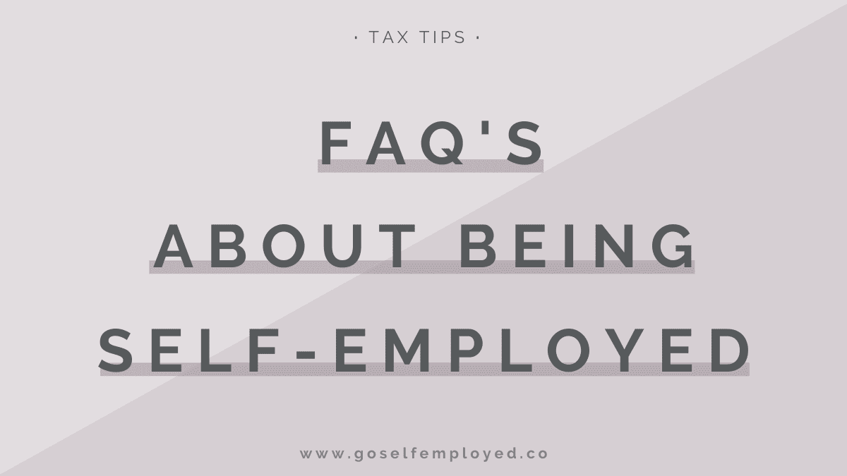self-employment FAQs
