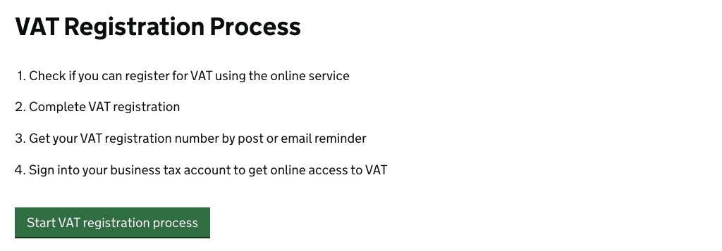 vat registration process