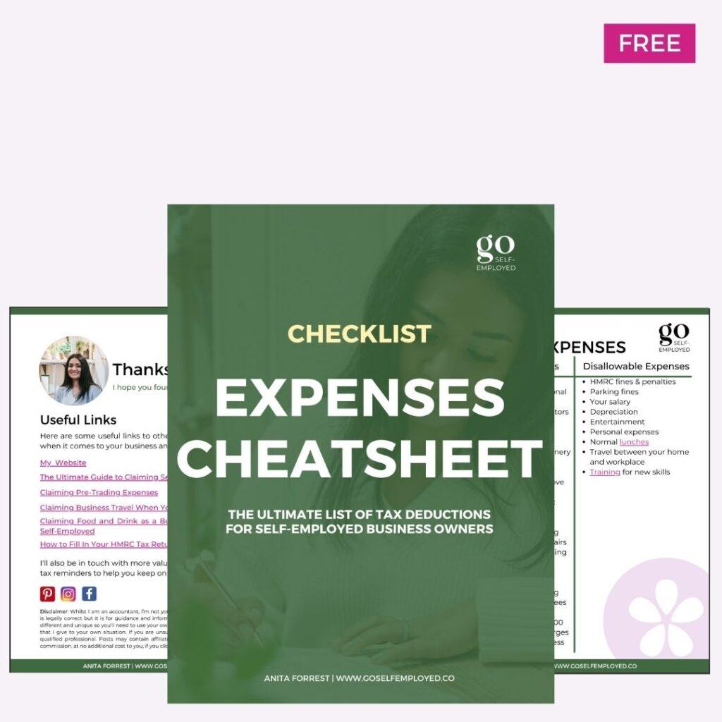expenses cheatsheet download